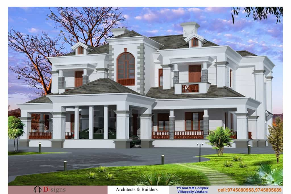 luxurios victorian kerala home at 6000