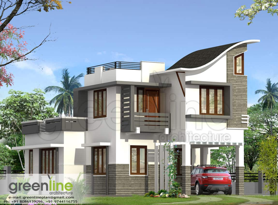 Affordable 4 bedroom kerala villa at 1900 for Kerala home designs pictures