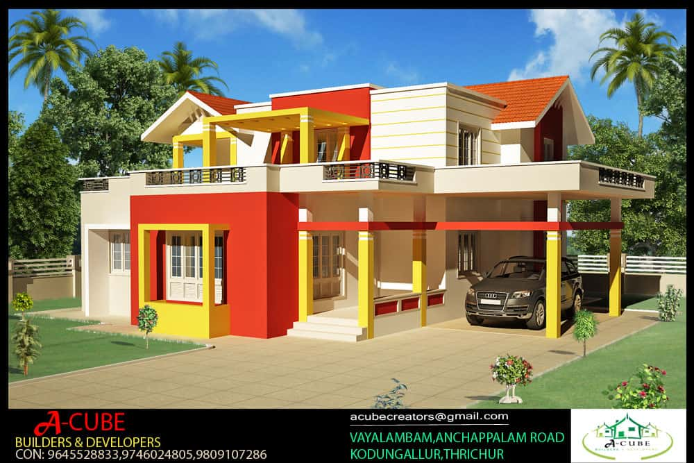 4 bhk kerala home Kerala style 4 bedroom home plan at 2000 sq.ft