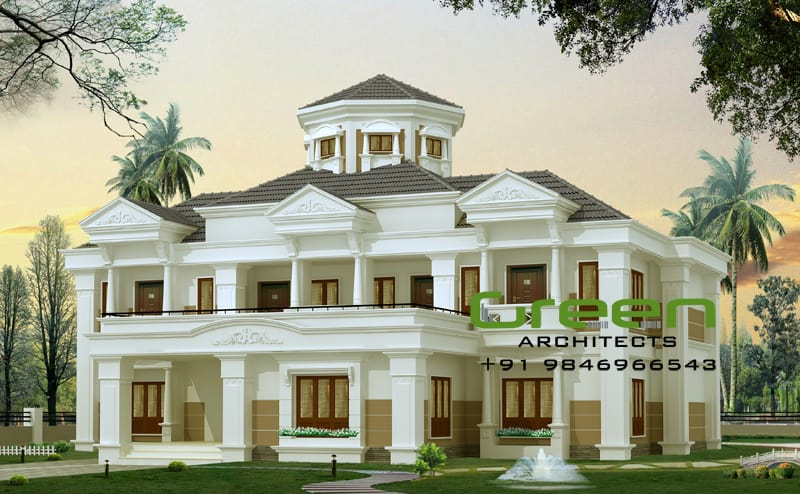 bungalow house design Kerala