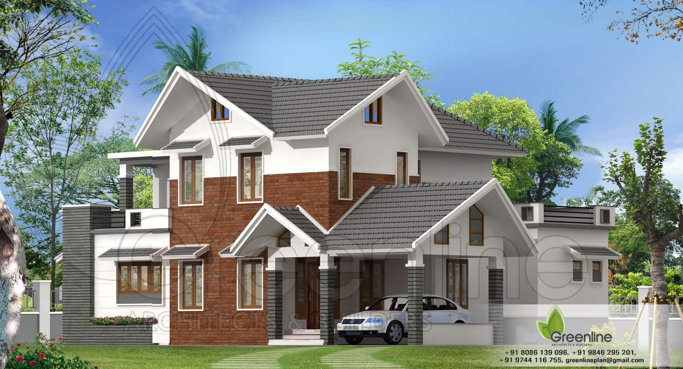 Contemporary villa design at 2390 kerala house for Villa plans in kerala