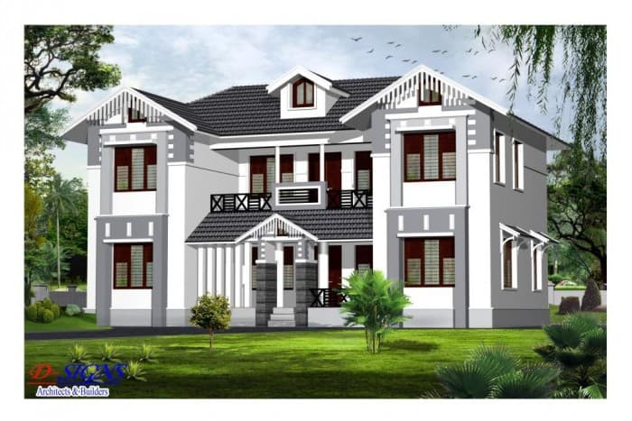 Beautiful Front Elevation Of Kerala Houses : Good kerala style exterior house elevation at sq ft