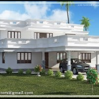 kerala house elevation at 2991 sq.ft