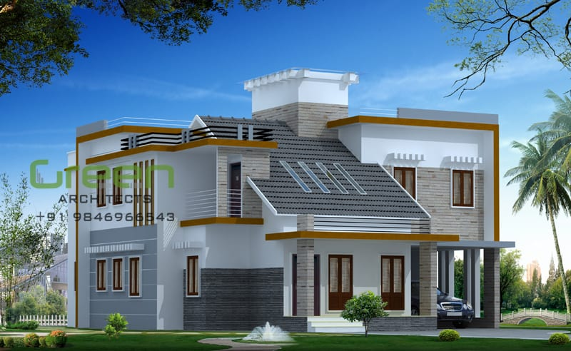 Pics Photos Flat Roof Modern Home Design Sq Ft Kerala Home Design Flat Roof