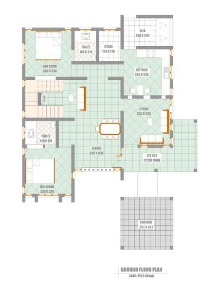 Unique elevation with kerala house plan at 2300 for 2300 sq ft house plans