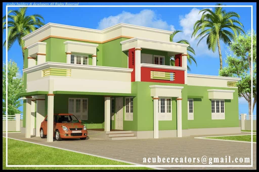 Simple Modern Home Design Square Feet Kerala  jhmradcom