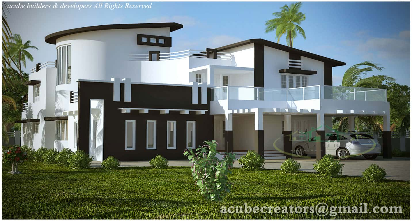 Luxury kerala house design and plan at 5004 for Modern house plans 5000 square feet