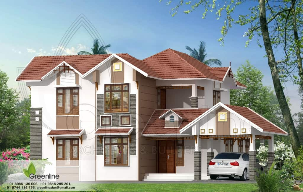 House Plans And Elevations In Kerala Style