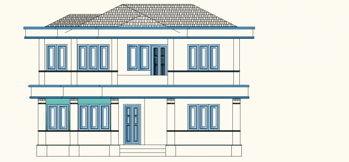 4 bedroom Kerala house1 700x325 4 Bedroom Kerala House Plan