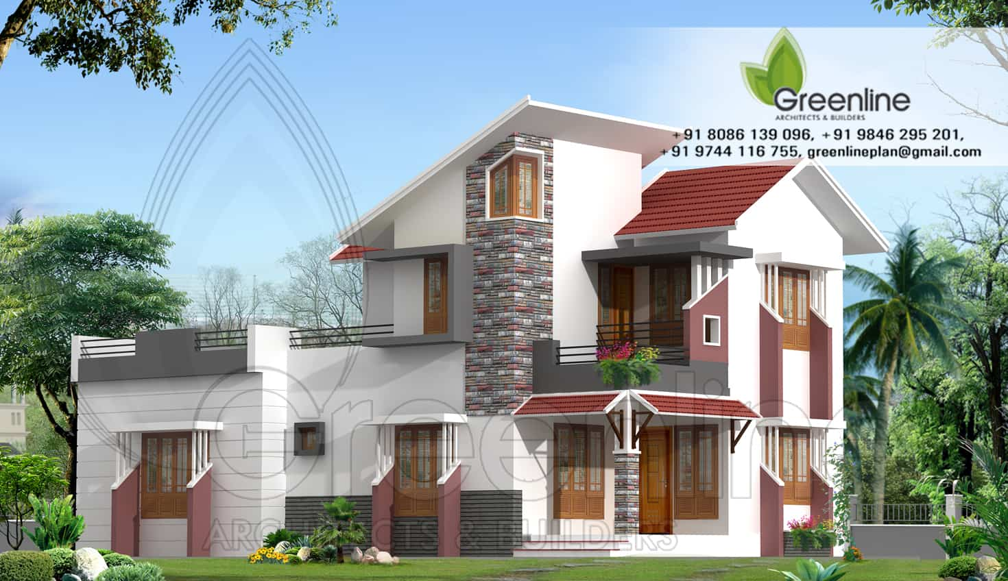 Kerala house plans with estimate for a 2900 home design for Home designs kerala photos