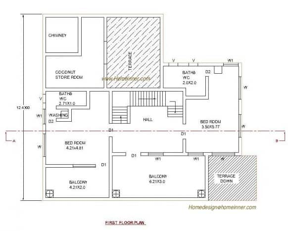 kerala house plan at 3035 sq ft house plans included