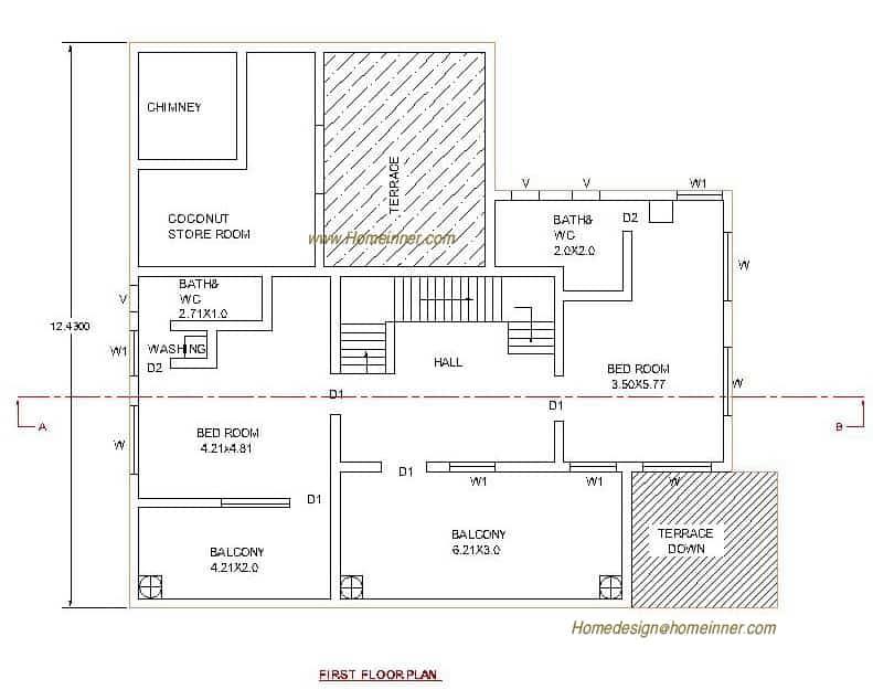 1x1.trans House Plan of 3035 sq.ft. Kerala Home