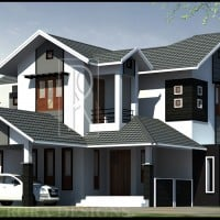 modern 4 bedroom kerala home