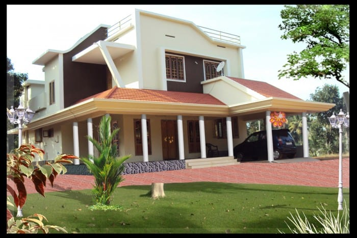Modern 4 bedroom keral home at 2000 for 2000 sq ft homes