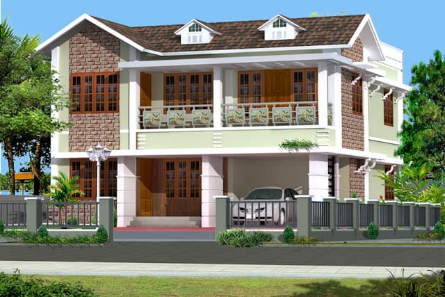 Home Design In India kerala house elevation Kerala House Elevation