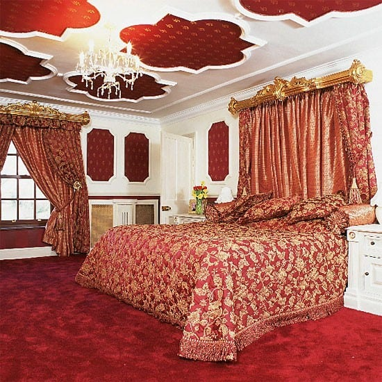 Gold Red And Black Master Bedroom Room 4 Interiors