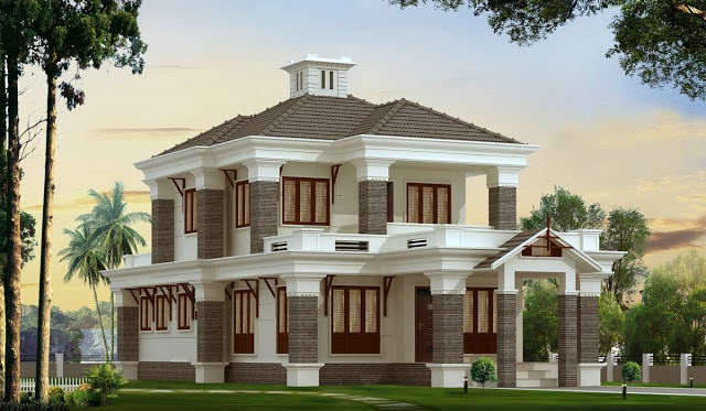 Kerala style Bungalow design at 2300 sq.ft