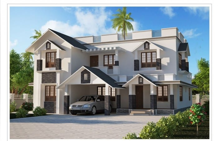 Wonderful Modern Kerala Home Design 2013