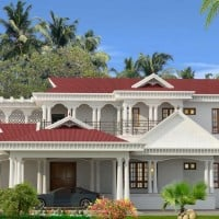Kerala home exterior design