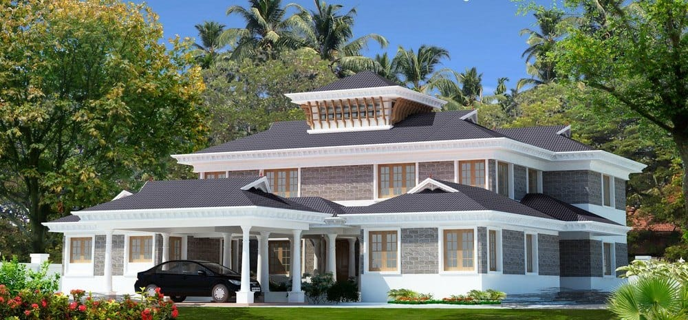 Kerala Bungalow Design At 5037 Sqft