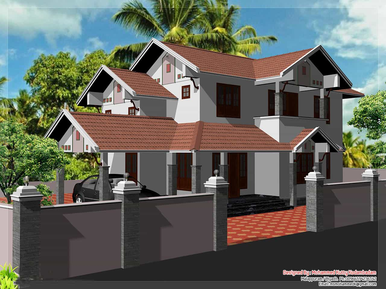 2000 kerala style home design for 2000 sq ft modern house plans