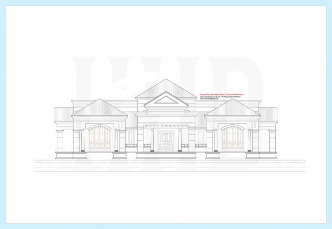 2d-elevation for kerala house model single storey