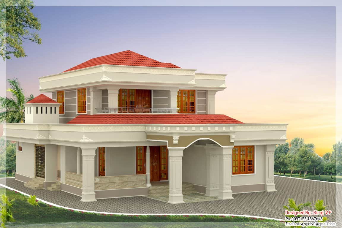 Beautiful kerala home design at 2250 for Beautiful home design