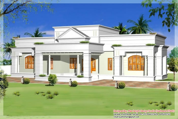 single storey kerala house model