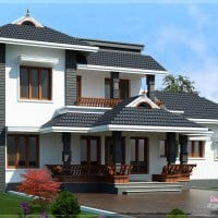 latest sloping roof kerala house plan