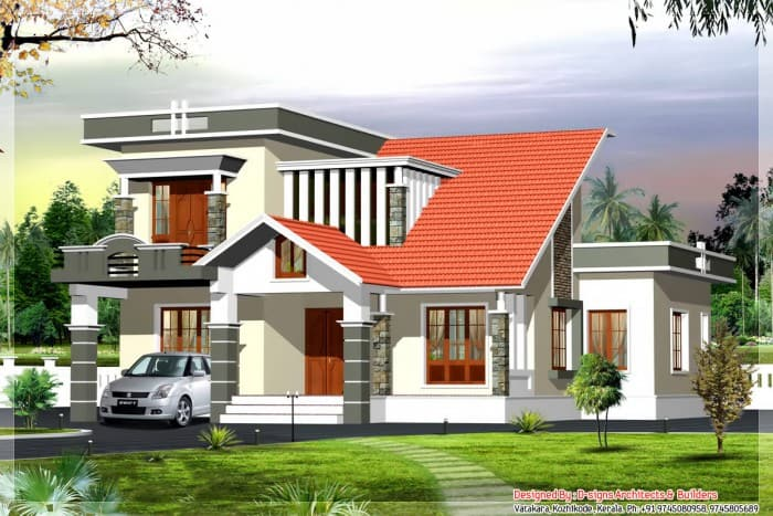 Home Designs - Contemporary Kerala style house plans - HD Wallpapers
