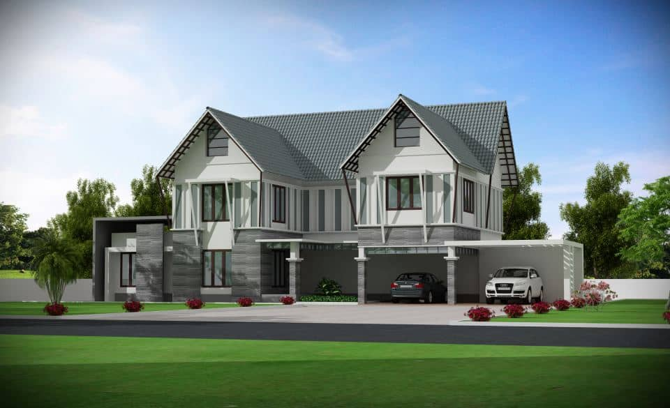 Very modern beautiful kerala house with plans for Very modern house plans