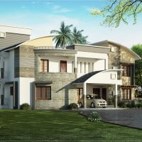 modern kerala house elevation