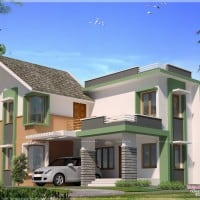 Kerala house model Exterior design at 2860 sq.ft