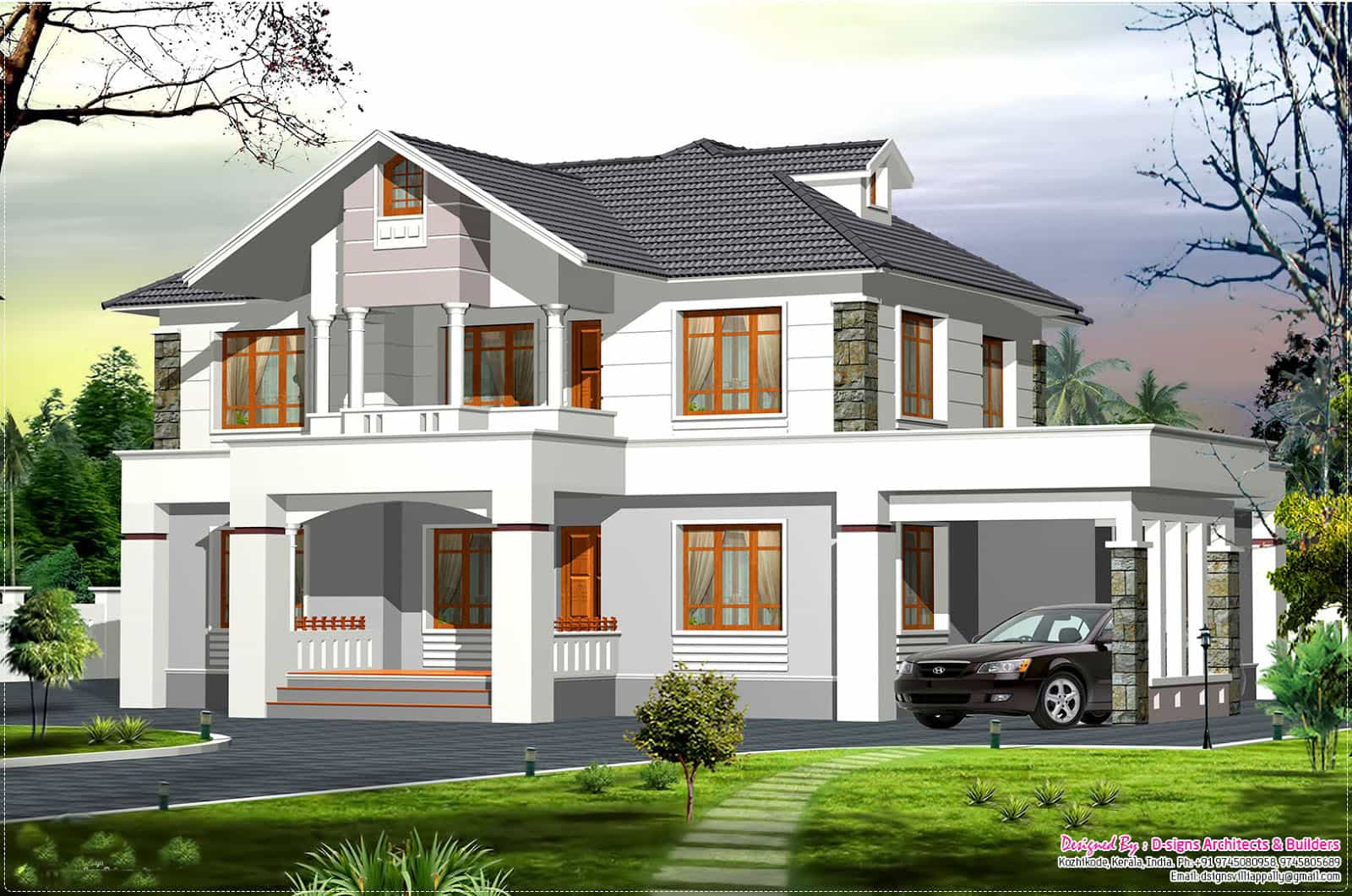 Two Storey Kerala House Designs - 2/7 - KeralaHousePlanner| Home ...