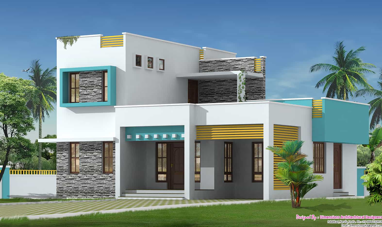Cosy 3bhk villa at 1500 Villa designs india