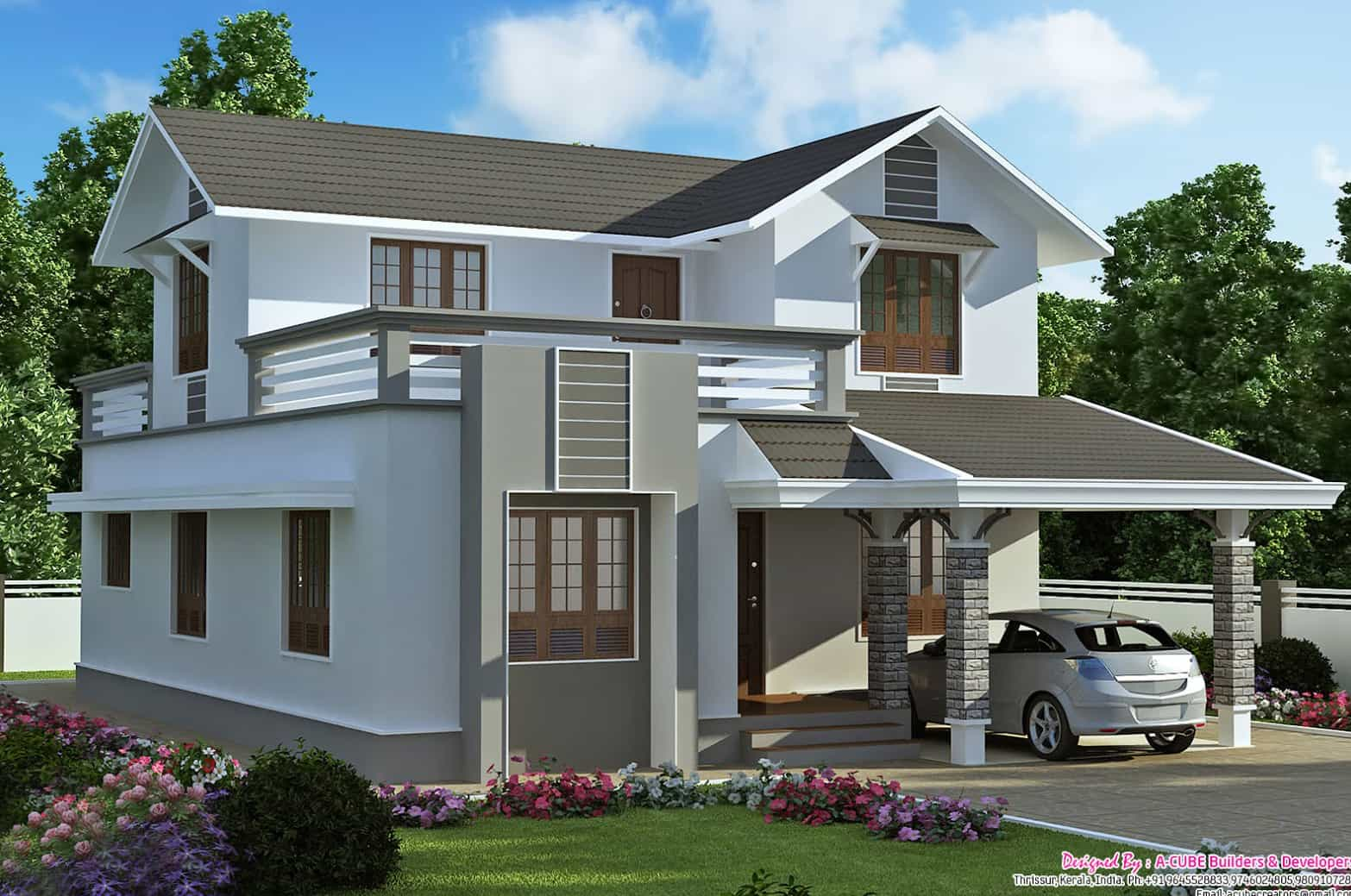 Marvellous 2000 sq.ft. double storeyed Villa design