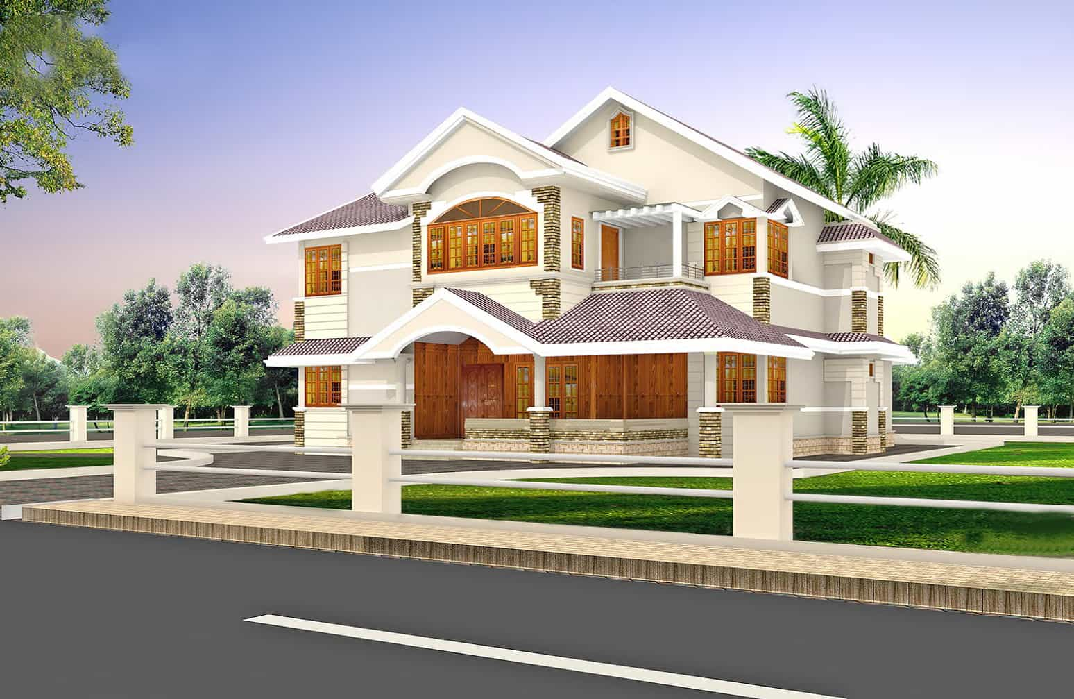 2900 Square Feet Refined Villa Design: 3d house designing