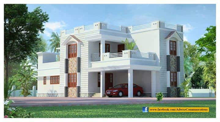 Kerala home design at 1968 for House designs kerala style low cost