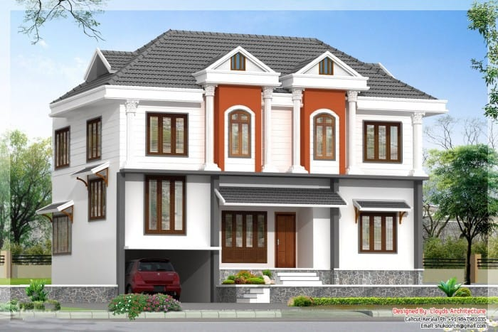 2172 Kerala House with 3D View and Plan