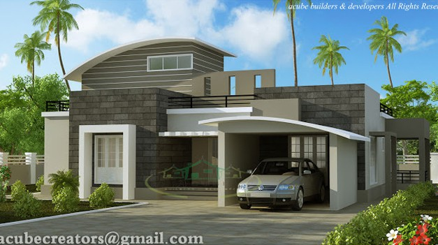 BHK   KeralaHousePlannerModern Contemporary Kerala home design at sq ft