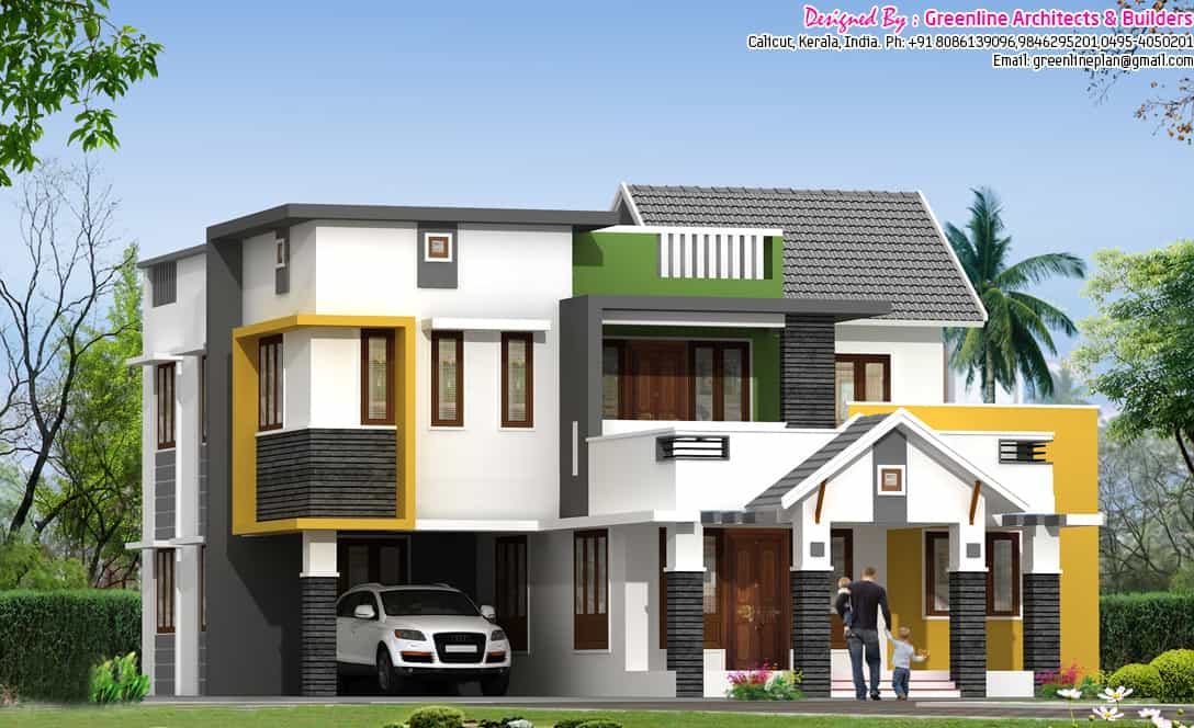 Very Stylish Contemporary 5BHK Villa Design At 2600 Sqft