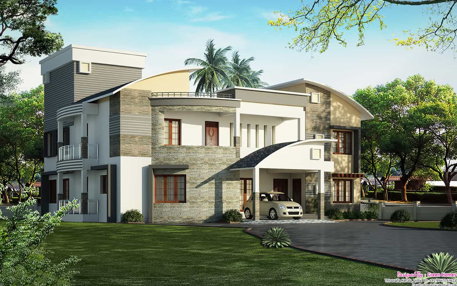 Unique house designs keralahouseplanner for Cute house design