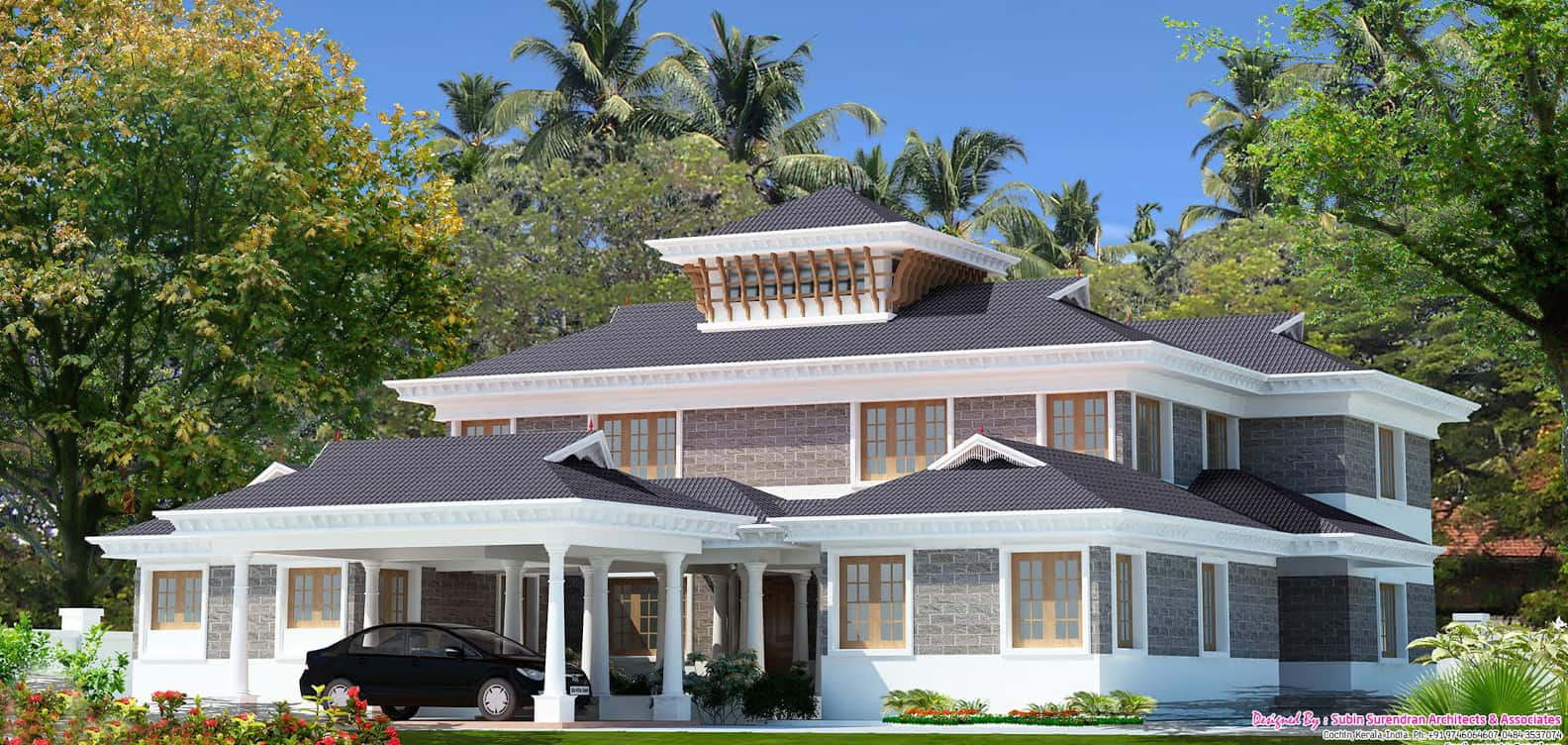 Home design interior most beautiful houses in kerala for Most beautiful house in kerala
