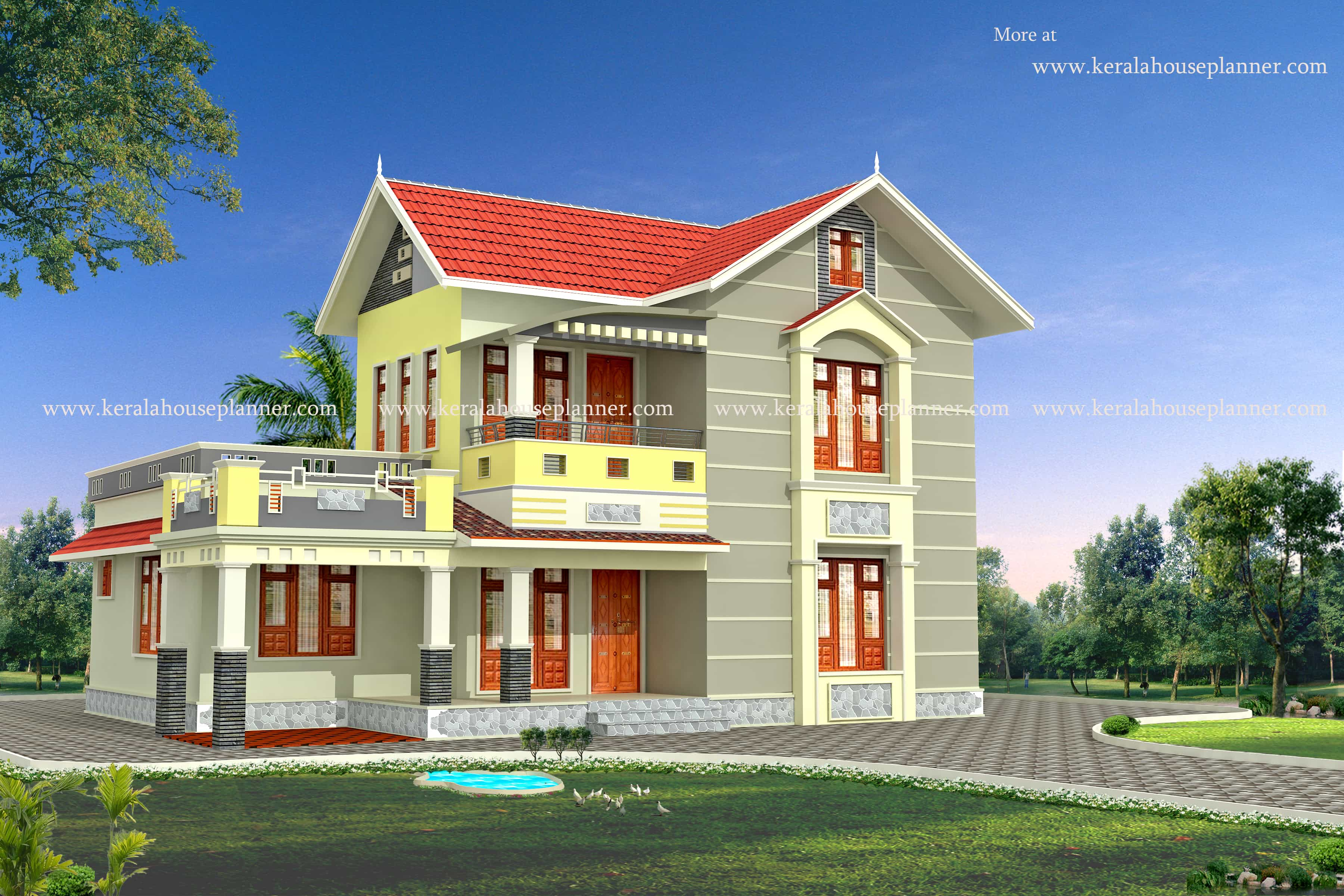 Modern kerala house model at 1700 Model plans for house