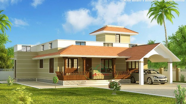 Modern kerala home design at 1875 for Minimalist house kerala