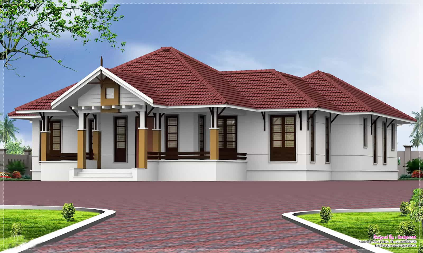 Single storey Kerala home design at 2000 sq.ft