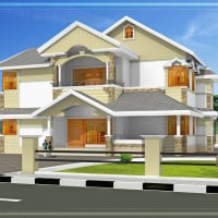 Kerala House Plans with Estimate for a 2900 sq.ft Home Design
