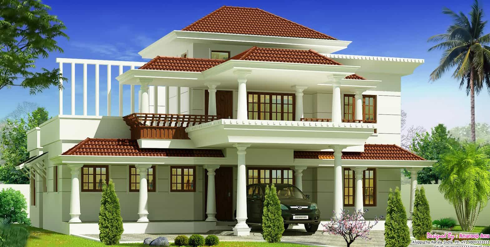 Home Design 1700 Square Feet Part - 35: Kerala Home Design At 1700 Sq.ft