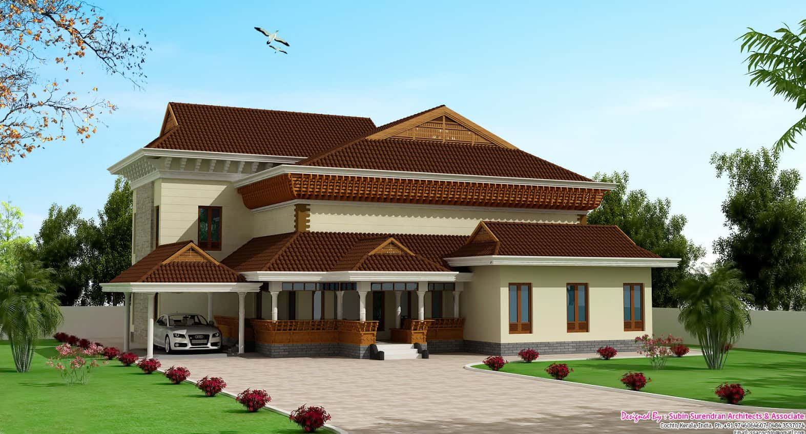 Over 3000 keralahouseplanner home designs for Luxury home models