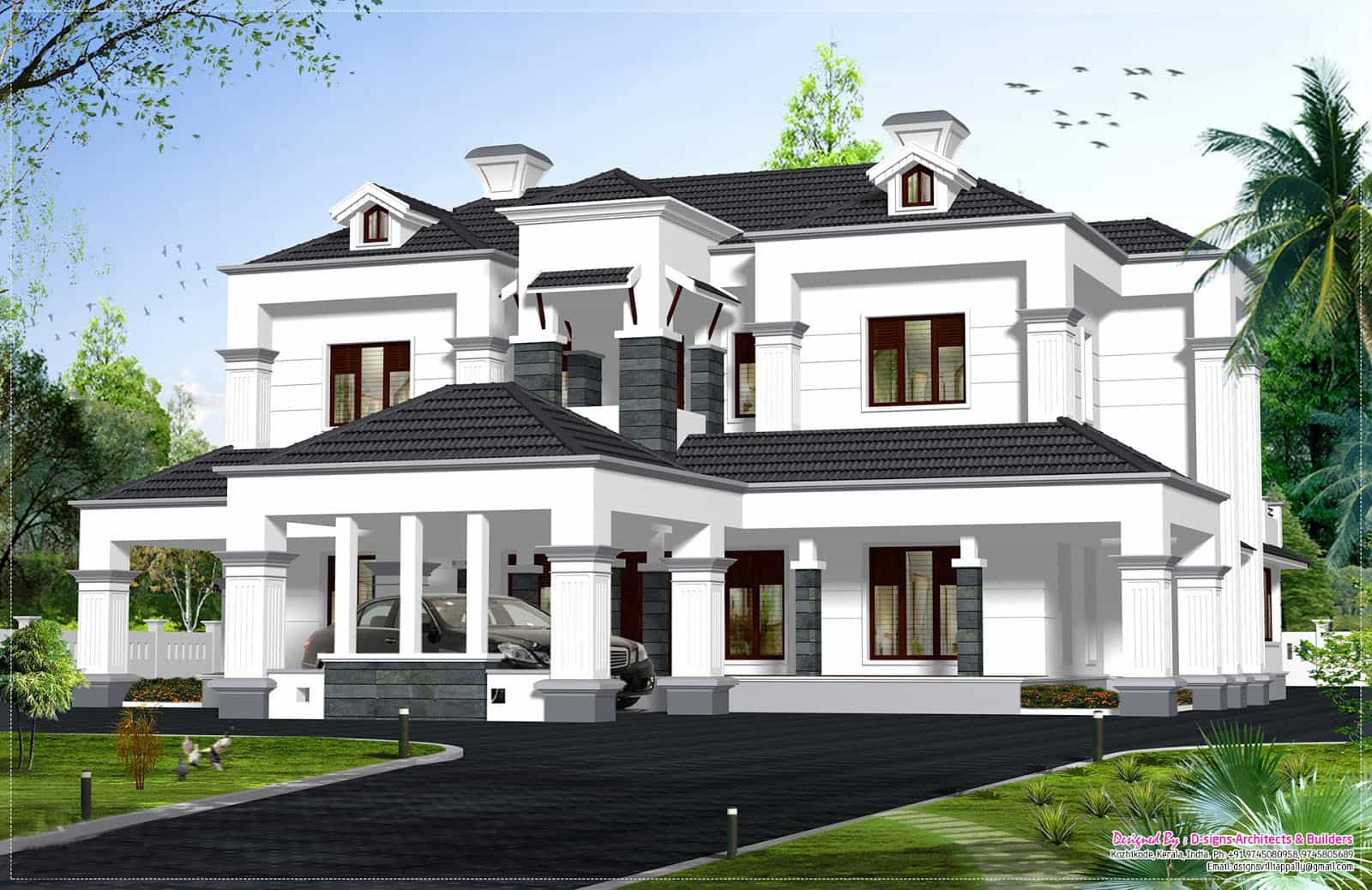 Low cost house in kerala with plan photos 991 sq ft khp for Colonial style home design in kerala